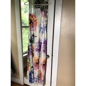 Nicole Miller silky floral dress